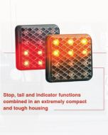LED Autolamps 81STIM Stop/Tail & Indicator Combination Lamp (Bulk Boxed)