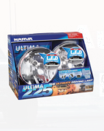 Narva 71680HID Ultima 225 H.I.D Pencil Beam Driving Lamp Kit 12 Volt 50W with L.E.D Position Light, 225mm dia Blister Pack