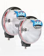 Ultima 225 H.I.D Combination Driving Lamp Kit 24 Volt 50W with L.E.D Position Light 225mm dia. Broad Beam, Pencil Beam