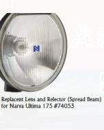 Narva 74053 Ultima 175 Broad Beam Driving Lamp Replacement Lens and Reflector